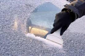 Die eingefrorene Windschutzscheibe